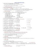 trắc nghiệm chương iii sinh thái di truyền học 12