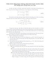 Giáo trình tổng hợp những cách tính toán modun đàn hồi bằng các công thức cơ học phần 1 pdf