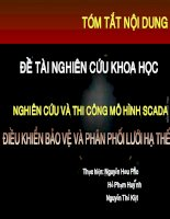 ĐỀ TÀI NGHIÊN CỨU KHOA HỌC NGHIÊN CỨU VÀ THI CÔNG MÔ HÌNH SCADA CHO ĐIỀU KHIỂN BẢO VỆ VÀ PHÂN PHỐI LƯỚI HẠ THẾ