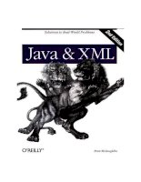 Java & XML 2nd Edition solutions to real world problems phần 1 potx
