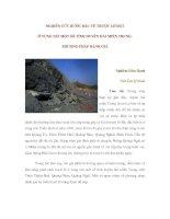 NGHIÊN CỨU BƯỚC ĐẦU VỀ TRƯỢT LỞ ĐẤT Ở VÙNG NÚI MỘT SỐ TỈNH DUYÊN HẢI MIỀN TRUNG. PHƯƠNG PHÁP ĐÁNH GIÁ pps