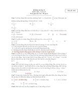 đề khảo sát lớp 12 MÔN THI : VẬT LÝ ppsx