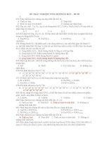 ĐỀ TRẮC NGHIỆM TỔNG HỢP HÓA HỌC – ĐỀ 09 pdf