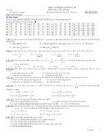 TRẮC NGHIỆM CHƯƠNG III MÔN VẬT LÝ LỚP 12 - Mã đề thi 003 potx