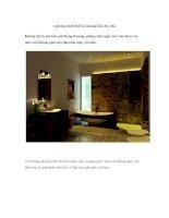 4 phong cách thiết kế phòng tắm độc đáo ppt