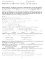 Bộ đề ôn thi THPT quốc gia môn vật lý
