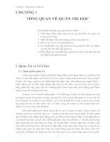 QUẢN TRỊ HỌC VÀ CÁC CHỨC NĂNG QUAN TRỌNG - 1 ppt