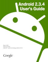 Android 2.3.4 User's Guide phần 1 doc