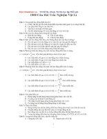 1000 câu hỏi trắc nghiệm vật lí 10