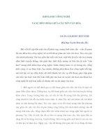 KHOA HỌC CÔNG NGHỆ VÀ SỰ ĐỐI THOẠI GIỮA CÁC NỀN VĂN HÓA pdf