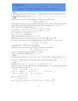 tuyển chọn các bài tóan liên quan đến khảo sát hàm số