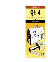The book of qt 4 the art of building qt applications - phần 1 ppt