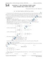 phương pháp giải bài tóan hóa học
