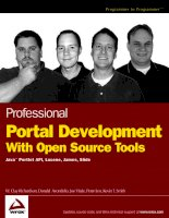 Professional Portal Development with Open Source Tools Java Portlet API phần 1 ppsx