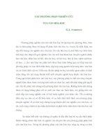 CÁC PHƯƠNG PHÁP NGHIÊN CỨU CỦA VĂN HÓA HỌC pps