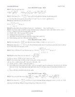 22 đề thi tóan 11 học kì 2