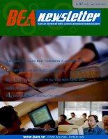Tập san chuyên đề tiếng anh của Business english academy - Số 7 doc