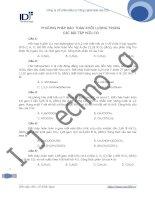 Bài tập bảo toàn khối lượng trong các bài toán hữu cơ pps