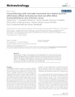 Retrovirology Short report BioMed Central Open Access Immunotherapy with internally inactivated docx