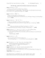 chuyên đề toán luyện thi đại học