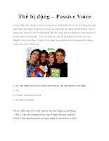 thể bị động - passive voice