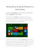 Hướng dẫn gỡ bỏ tận gốc Windows 8 ra khỏi hệ thống doc
