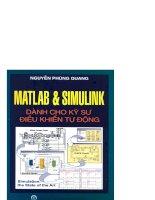 Matlab và Simulink dành cho kỹ sư điều khiển tự động part 1 potx