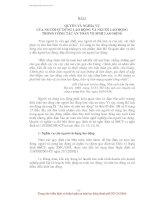 TÀI LIỆU HUẤN LUYỆN AN TOÀN, VỆ SINH LAO ĐỘNG CHO NGƯỜI SỬ DỤNG LAO ĐỘNG - BÀI 3 pptx