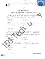 Đề 4: bài tập công suất mạch điện xoay chiều không phân nhánh docx