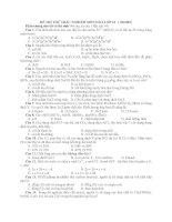 ĐỀ THI THỬ TRẮC NGHIỆM MÔN HOÁ LỚP 12 ( Mã 002) pptx
