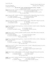 ĐỀ THI THỬ TRẮC NGHIỆM MÔN HOÁ LỚP 12 ( Mã 001) ppt