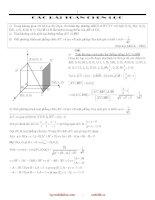 tuyển tập các bài toán hình học giải tích trong không gian luyện thi đại học
