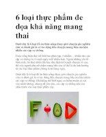6 loại thực phẩm đe dọa khả năng mang thai doc