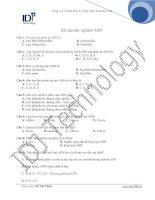 Bài Tập Trắc nghiệm ADN1 doc