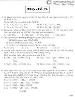 bộ đề ôn luyện thi trắc nghiệm môn hoá học bộ đề 5