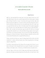VỀ VAI TRÒ CỦA ĐẠO ĐỨC TÔN GIÁO TRONG ĐỜI SỐNG XÃ HỘI pptx