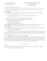 ĐỀ THI OLYMPIC (Ngày 3/4/2011) Môn: Hoá học 10 doc