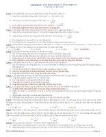 CHƯƠNG IV : DAO ĐỘNG ĐIỆN TỪ. SÓNG ĐIỆN TỪ CÂU HỎI VÀ BÀI TẬP pptx