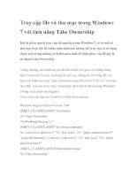 Truy cập file và thư mục trong Windows 7 với tính năng Take Ownership pdf