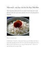 Mận muối – nét đẹp văn hóa ẩm thực Nhật Bản pps