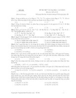 ĐỀ THI THỬ VÀO ĐẠI HỌC, CAO ĐẲNG Môn thi: HÓA - Đề 111 potx