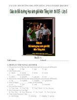 Tài liệu Bồi dưỡng học sinh giỏi môn Tiếng Anh  thi IOE  Lớp 5 năm học 2013 - 2014