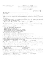 ĐỀ THI TRẮC NGHIỆM MÔN MÔN VẬT LÝ LỚP 12 NÂNG CAO - Mã đề thi 485 ppt