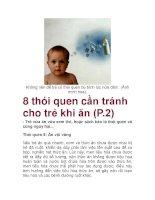 8 thói quen cần tránh cho trẻ khi ăn (P.2) ppsx