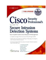 cisco security professional''''s guide to secure intrusion detection systems phần 1 pot