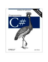 Programming C# 2nd Edition phần 1 pptx