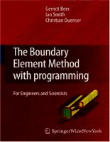 The boundary element method with programming for engineers and scientists - phần 1 pps