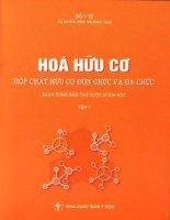 giáo trình hóa hữu cơ -hợp chất hữu cơ đơn chất và đa chức