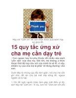 15 quy tắc ứng xử cha mẹ cần dạy trẻ pdf