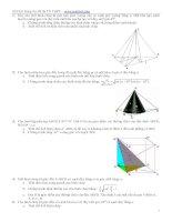 19 bài tập về hình học không gian
